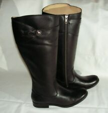 Frye Womens Molly Button Riding  Leather Boots size 7 B    Black