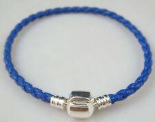 Fashion Leather Bracelet Chain Bangle Fit European Charms Beads Buckle 20cm fb4