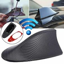 Car Carbon Fiber Shark Fin Roof Antenna Radio FM/AM Decorate Aerial Fit For BMW