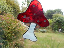 Stained Glass Mushroom / Toadstool / Fly Agaric Suncatcher or Wall Mount.