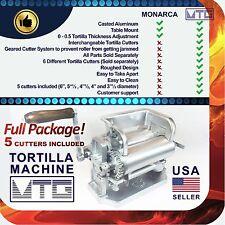 Roller & Crank Tortilla Machine NOT MONARCA - 5 (FIVE) Cutters Included