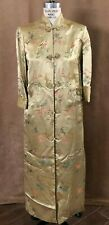 34 Vintage Peony brand Shanghai China Qipao Dress Embroidered Mandarin M Asian