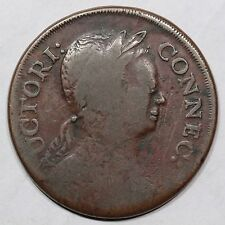 1785 2.1-A.1 R-5 Roman Head Connecticut Colonial Copper Coin