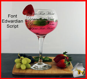 Personalised Gin Glass Engraved Birthday Gifts 18th 21st 30th 40th 50th 60th