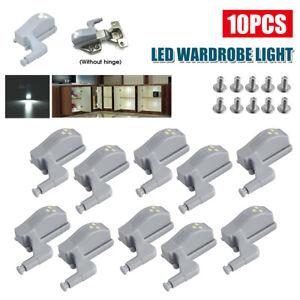 10pcs Cabinet Hinge Sensor Lights Cupboard Closet Wardrobe Kitchen Door Lamp Set