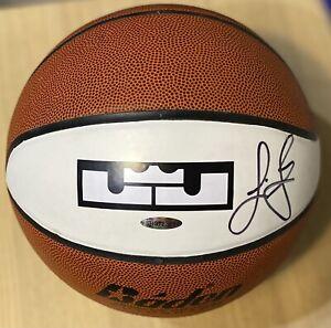 LeBRON JAMES UDA Upper Deck signed autographed basketball LeBron logo LAKERS