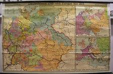 Schulwandkarte Wandkarte Deutschland 1789 750T Europa 1815 2,5M 6M 206x132 1953