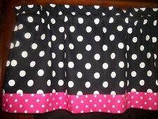Black Pink Dot hello kitty minnie mouse fabric kitchen curtain Valance