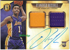 2015-16 GOLD STANDARD ROOKIE JERSEY AUTO #239: D'ANGELO RUSSELL/149 RC AUTOGRAPH