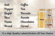 12 x Mrs Hinch Inspired Stickers Organising Kitchen Labels. Name Tag. Bathroom