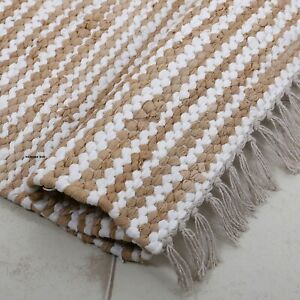 Rug 100% Natural Cotton 2x3 Feet Hand woven Area Rug Floor Mat Carpet Yoga Mat