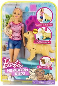 Barbie Newborn Pups Surprise Gender New Boxed Uk Seller FDD43 🇬🇧