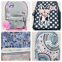 Justice Girls Backpack Bookbag Full Size School Book Bag