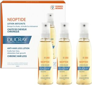 Ducray Neoptide Anti Hair Loss Lotion For Women Stimulates Hair Growth 3 x 30ml