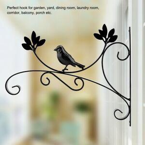 Modern Hanging Wall Mount Bracket Iron For Basket Plants Flower Pots Home Decor