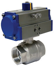 """2"""" Pneumatic Actuated Stainless Steel Ball Valve, Spring Return, New"""