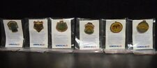 1989 LA DODGERS UNOCAL 76 PIN SET - (6) PINS - WITH PIN INFORMATION  CARD IN BAG