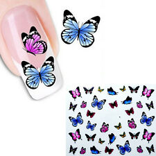 A03 Nail Art Nagelsticker Nageldesign Aufkleber Schmetterling Tattoo