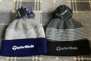 Brand New TaylorMade Golf Beanie Bobble Winter Hat - 2 Colours - Great Style