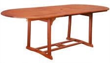 KMH® Eukalyptus Gartentisch 180 - 230 x 100 cm Tisch Ausziehtisch Esstisch oval