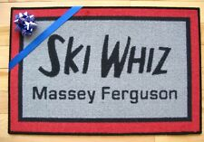 Ski Whiz Snowmobile Vintage Retro logo door mat  Massey Ferguson