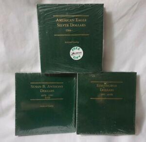 (3) Littleton American Eagle Silver/Susan B. Anthony & Eisenhower Dollars (New)