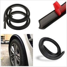 2X Black 1.5m Universal Car Wheel Tire Eyebrow Strip Protector Soft Rubber Strip