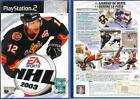 GIOCO PLAY STATION 2 - EA SPORTS - NHL 2003 - USATO BEN TENUTO