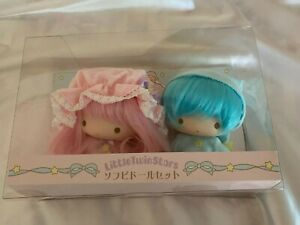 Sanrio Little Twin Stars Kiki & Lala Soft Vinyl Doll Quilt Mascot set
