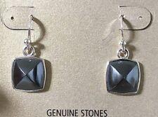 Hematite w/ Sterling Silver New Barse Earrings, MSRP $87