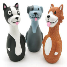 "Chiwava 3 Pack 5.7"" Squeaky Latex Dog Toys Standing Stick Dog Puppy Fetch Play"