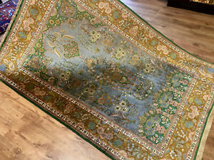 Perserteppich fein Seide Orient Teppich Seidenteppich 185 x 122 Traumhaft TOP