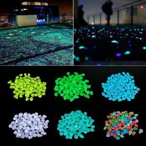 100Pcs/Set Glow In The Dark Glittering Stones Rock Patio Decor Yard Path O7L6