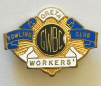 Greta Workers Bowling Club Badge Pin Rare Vintage (L22)