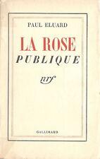 RARE EO N° PAUL ELUARD : LA ROSE PUBLIQUE