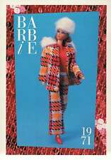 """Barbie Collectible Fashion Trading Card """" Perfectly Plaid """" Jacket, Hat 1971"""