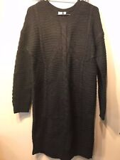 NWT Gap Plait Cable Knit Sweater Dress, Black SIZE XS             #465675 v119