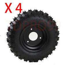 "4pcs  4.10-6 wheel 3.50-6 6"" Knobby Tire Tyre + Rim for Mini Go Kart ATV Quad"