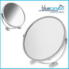 2X Magnifier Mirror Double Size Shaving/Make up Swivel Small Platform BlueCanyon