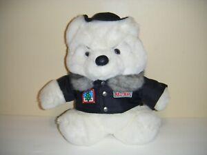 Vintage Dayton Hudson 1989 Bully Bear Santa Jacket Stuffed Plush Toy