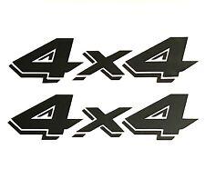 2 BLACK 4X4 OFF ROAD DECALS STICKER 4WD TRUCK FORD CHEVY DODGE TOYOTA GMC LOGO