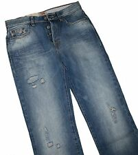 HUGO BOSS 50218926 MEDIANO AZUL DENIM NARANJA 25 Toy VAQUEROS W31 L34