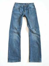Girls RINGO GARCIA Zip Fly Straight Blue Denim Jeans Size W27 L32 / Years 14 -15