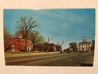 Main Street Looking West, Batavia, New York NY Postcard - Dexter Press