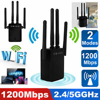 1200Mbps Dual Band Wifi Repeater Range Extender Wireless Signal Amplifier Router