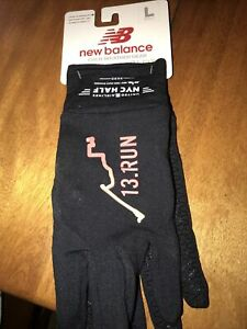 New Balance TCS New York City Marathon Running Texting Gloves Black L NWT