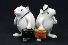Miniature Ceramic Animals Doctor,Nurse Rat Figurine for Decorative Collectibles