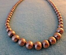 VTG CLASSIC Timeless STERLING SILVER GRADUATED BALL BEAD Strand NECKLACE 18.5""