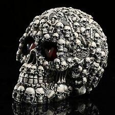 Halloween Decor LED Homosapiens Skull Statue Figurine Human Shaped Skeleton Head