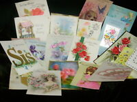 LOT OF 21 VINTAGE USED MOTHER GREETING CARDS